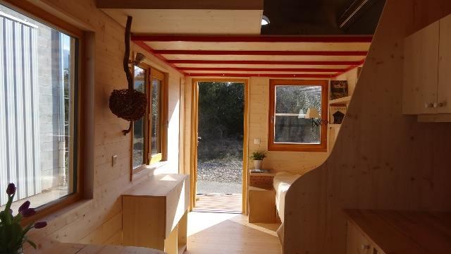 Aménagement intérieur de la Tiny House Optinid dans les étoiles