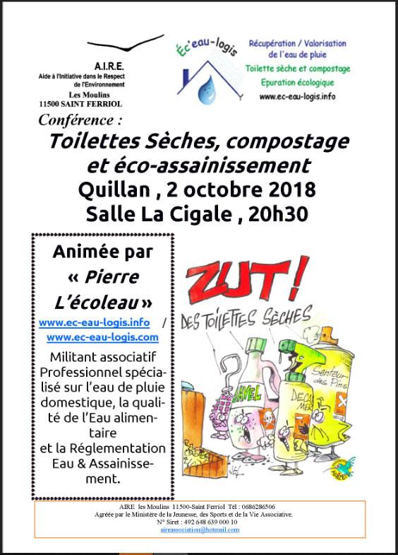 conférence toilettes sèches à Quillan