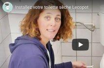 vidéo installer une toilette sèche