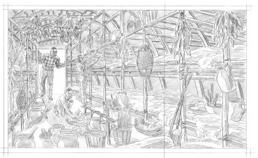 amazing places rough illustration 2