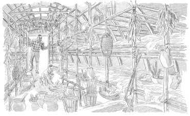 amazing places illustration rough