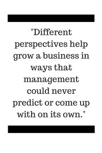 Different perspectives help grow a business