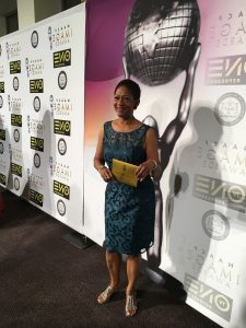 """Author Gwendolyn Hooks on the NAACP Image Awards """"red carpet"""""""
