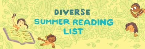 Diverse Summer Reading List graphic