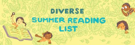 Diverse Summer Reading List graphic