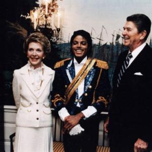 President Ronald Reagan, Nancy Reagan and Michael Jackson Let's Not Get Carried Away