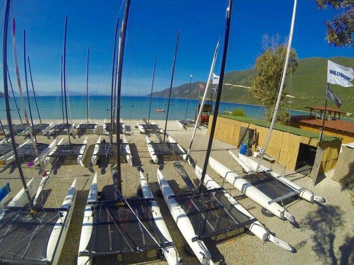 Vassiliki bay in Lefkada, the absolute windsurfers paradise