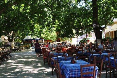 Main square of Karya, Lefkada