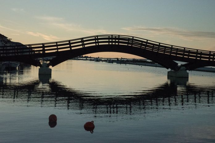 Wooden bridge in Lefkada Town