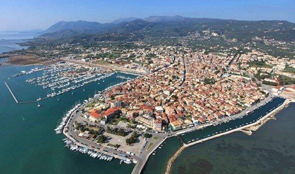 Veduta aerea della capitale dell'isola