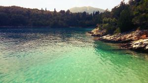 One of the bay of Skorpios, Lefkada Greece