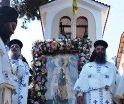 Lefkada, celebration at Faneromeni Monastery