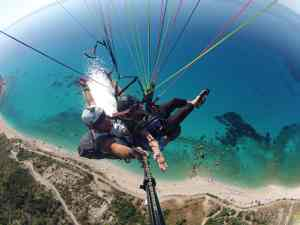 Paragliding above famous Kathisma beach in Lefkada!