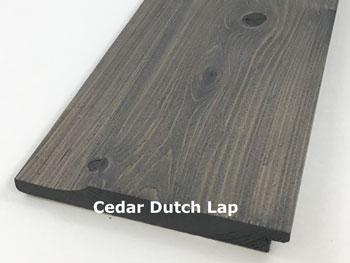 Prefinished Cedar Dutch Lap Siding
