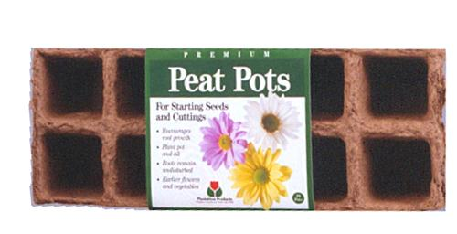 Start seeds easily with Natural Peat Pots; transplant later without shock. Order from Lehmans.com.