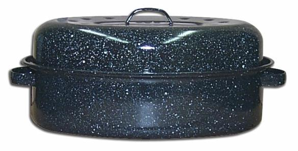 Perfect for big families! Cooks evenly, cleans up easily, Enamelware Roasters are available at Lehmans.com.