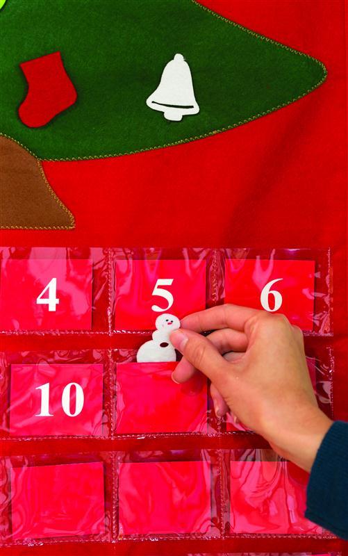 Close Up Advent Tree Calendar