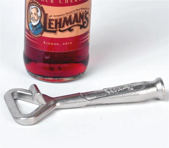 Solid, cast stainless steel, the Old-Fashioned Bottle Opener is easy to use.