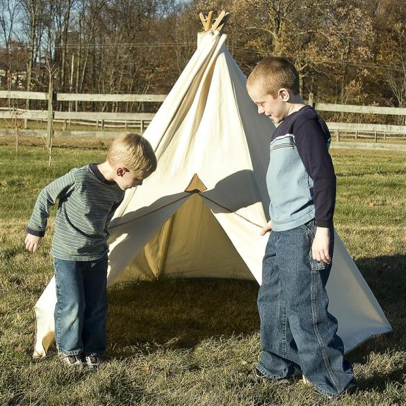 Our rugged children's teepee tents are made by the Amish near our store in Ohio.