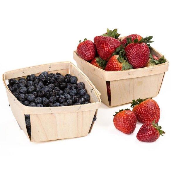 Old-Time Poplar Berry Baskets