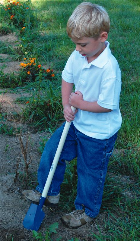 Our child's garden tools have sturdy wood handles and durable, colorfully painted steel implements. At our store in Kidron and Lehmans.com.