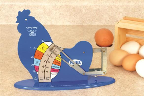 Safely weigh and grade your eggs with this old-time scale. At Lehmans.com and our store in Kidron, Ohio.