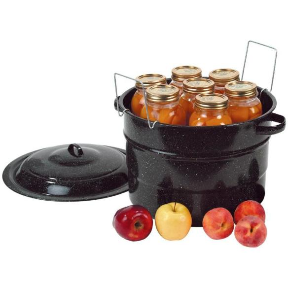 Water bath canning is a great way to get started in preserving low-acid foods. At Lehmans.com and our store in Kidron, Ohio.