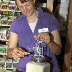 Karen churning butter