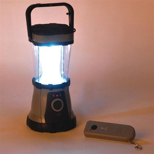 When the power goes out or the sun goes down, reach for this lantern. Its 24 powerful LED bulbs stay cooler, put out more usable light and last much longer than other types of bulbs. Use the keyring remote to light the room before you enter.