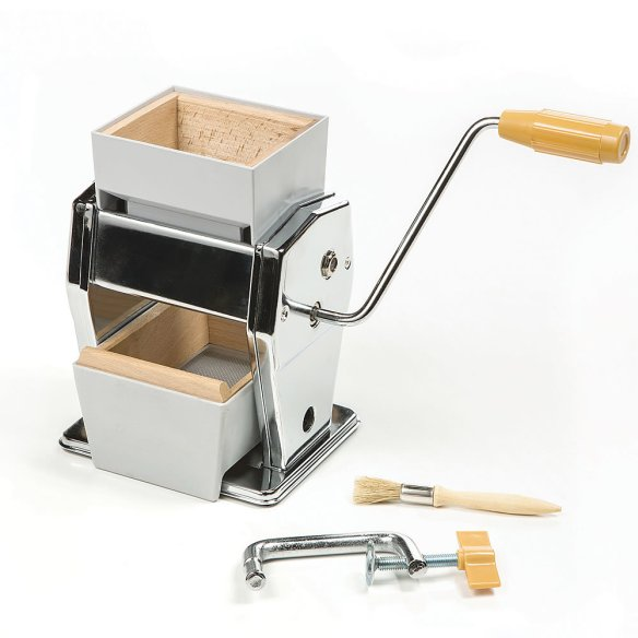 Quick and almost effortless - a few turns of the handle and you'll enjoy fresh, nutritious rolled oats, wheat, barley and rice cereals. Three tempered steel rollers grind any dry seed or legume including millet, soy, beans, peas and buckwheat.