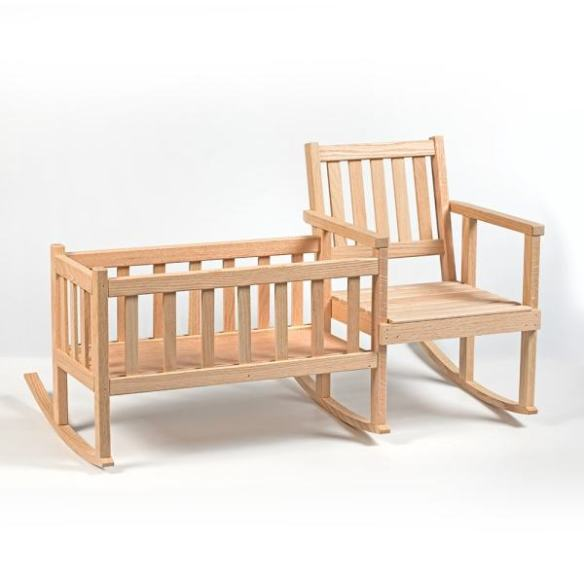 doll rocker and cradle