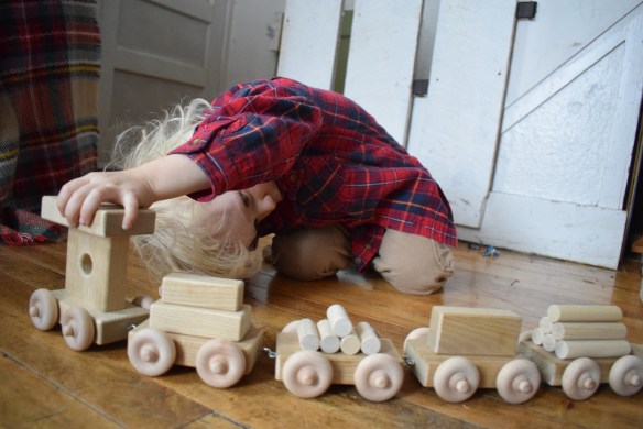 playtime fun with eli and mattie toy train