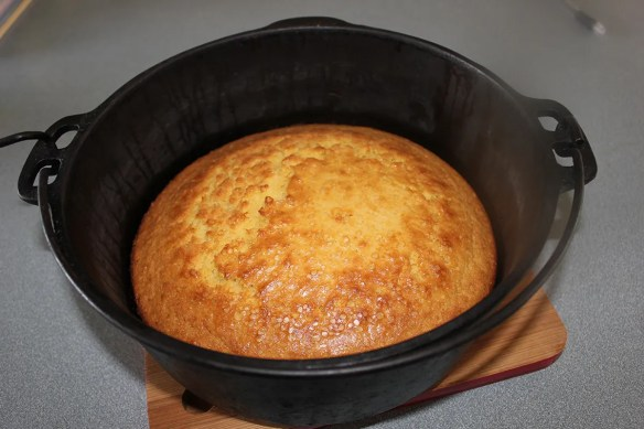 Cornbread in Dutch Oven
