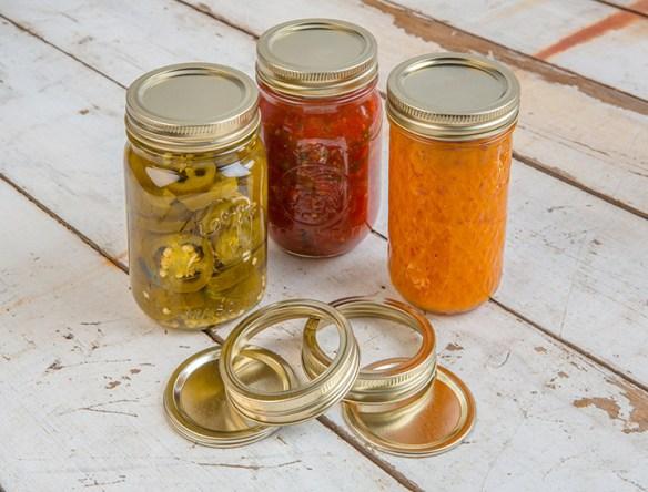 canning jars filled