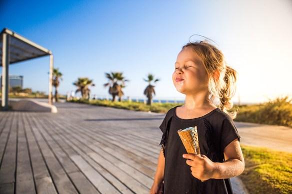 girl with ice cream