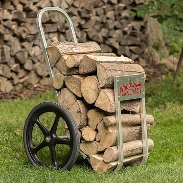 amish made wood cart