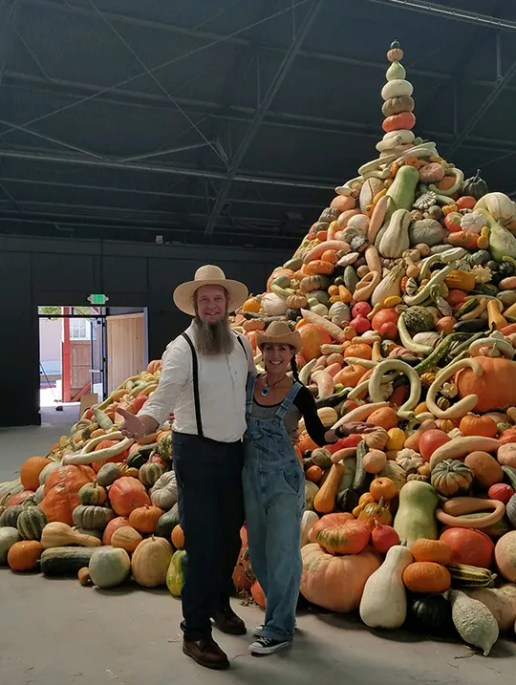 Doug & Stacy with pumpkins