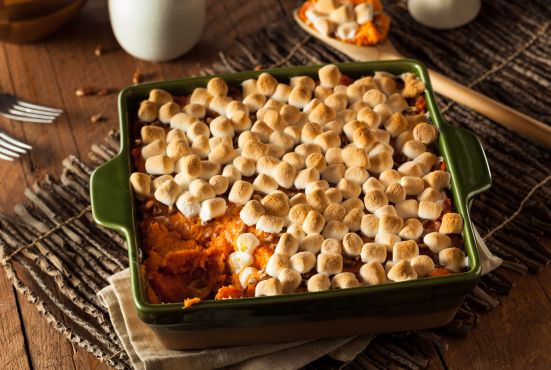 dish with sweet potatoes