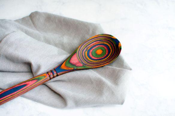Rainbow Pakkawood Spoon