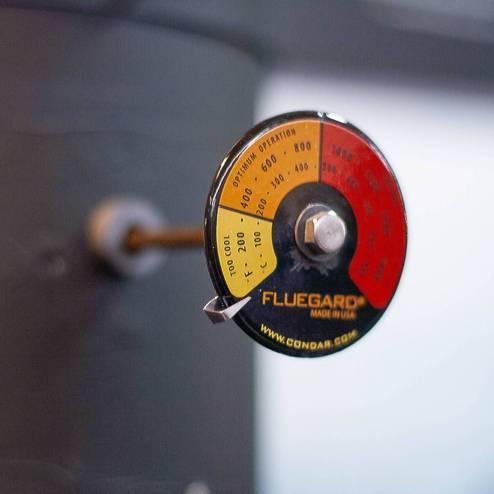 Fluegard stovepipe thermometer