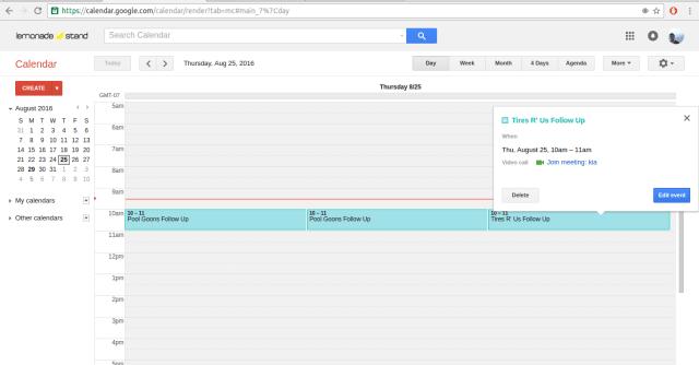 Yalla Google Calendar Integration 6