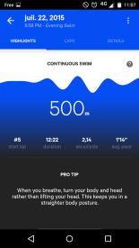Quelques infos liés à la session natation et un petit conseil pour améliorer ma technique.