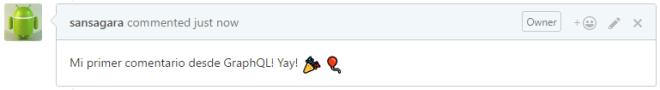 Comentar desde el API? Hell yeah!