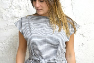 diy couture top simple carré