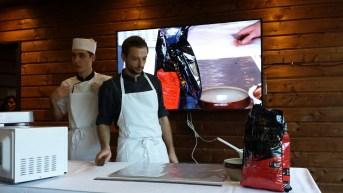 Démonstration culinaire - Martin Gheselle - Marché des Trésoms Annecy