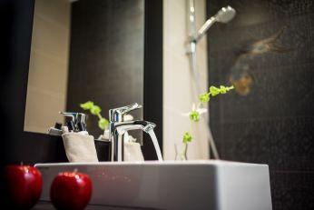 Salle de bain Tradition - Décoration d'intérieur - Hôtel Les Trésoms Lac Annecy