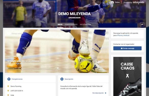 Un ejemplo de web con LEVERADE