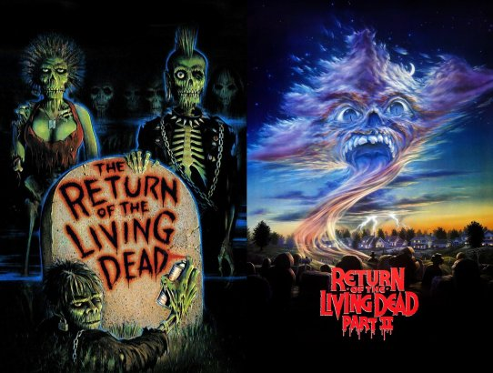 2018 31 Days of Scary Movies - October 6 - The Return of the Living Dead and Return of the Living Dead Part II