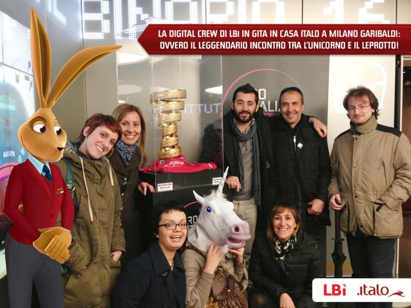 The LBi team celebrates at Casa Italo
