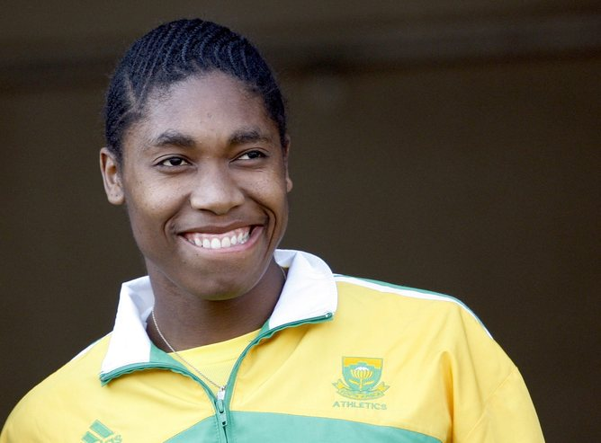 """South African athlete Caster Semenya, who was subjected to """"gender testing"""" after the 2009 athletics world championships"""